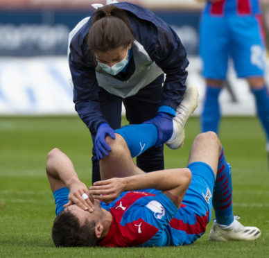 Nikolay Todorov receives treatment.