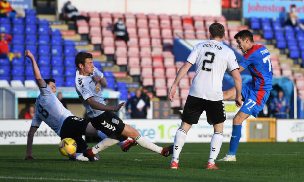 Nikolay Todorov equalises against Ayr United.