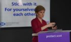 To go with story by Julia Sidell. FM briefing Picture shows; Scottish Government COVID-19 press conference at St. Andrew's House, Edinburgh with the First Minister, Nicola Sturgeon. Edinburgh. Courtesy Scottish Government/Flickr Date; 23/10/2020