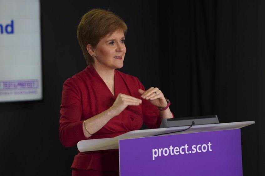 Scotland's First Minister, Nicola Sturgeon.