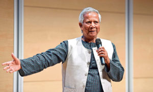 Muhammad Yunus's Grameen, or 'village', Bank works on the principle that the poor do not need to stay poor