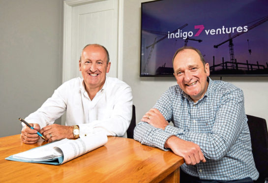 Doug Duguid, left, and Michael Buchan have launched I7V to support fledgling technology firms in the renewables sector.