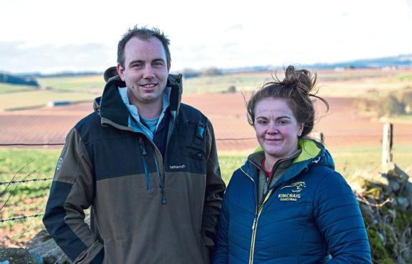 Aberdeenshire farmers Ben Lowe and Harriet Ross.