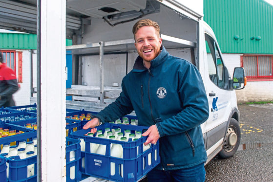 Kelvin Kerr's Dundee-based family dairy was attracting around 300 new delivery customers a week at the height of the pandemic.