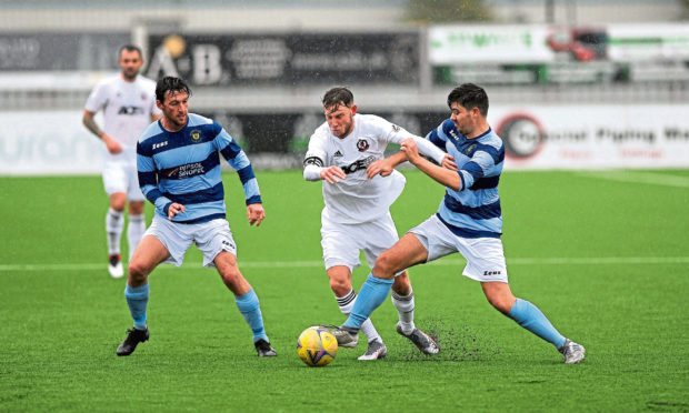 Dee, pictured in pre-season action against Cove Rangers, have a Scottish Cup tie against Fraserburgh this weekend.