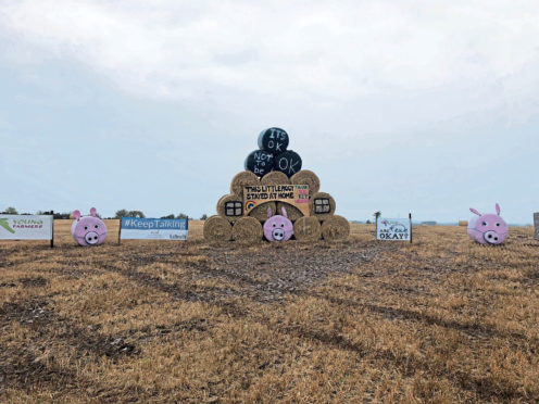 Lower Speyside young farmers have won the 2020 bale art competition