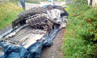 Asbestos tipped at Broats Farm steading, Annan.