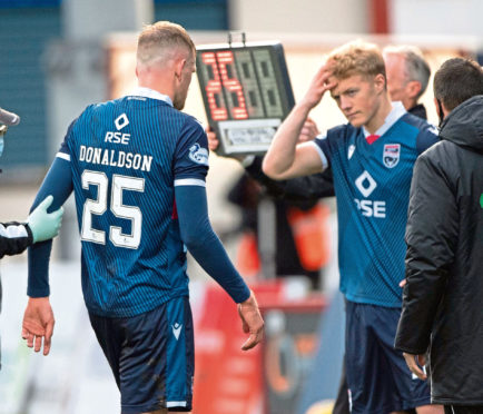 Tom Grivosti makes his Ross County return in place of Coll Donaldson.