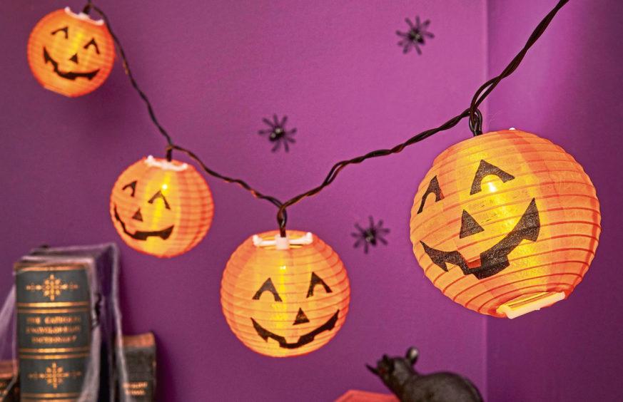 Pumpkin lanterns, £5, Wilko