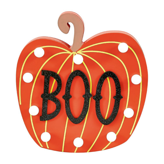 Boo pumpkin light up plaque, £6, Sainsbury's Home