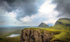 Sheep on the ledge of a cliff on the Quiraing, Isle of Skye, are among the 85 million sheep across the EU when it included the UK.