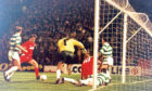 Eoin Jess secures Aberdeen's last Hampden win over Celtic in 1992.