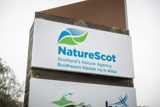 NatureScot new signage at Great Glen House, Inverness.