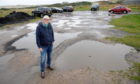 Macdonald (Secretary of the Newburgh and Ythan Community Trust) at Newburgh Beach car park. Picture by Darrell Benns