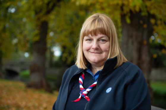 """Girlguiding Moray County Commissioner Alison Williams says the organisation is """"vitally"""" supporting youngsters and volunteers' mental health during the pandemic.  Picture by Jason Hedges."""