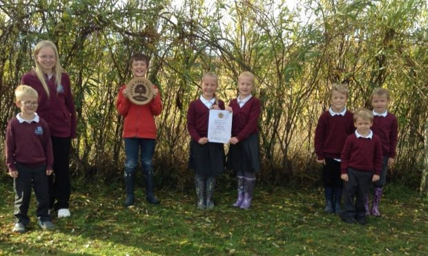 Ulva Primary School on the Isle of Mull has been awarded a gold award by The Woodland Trust.