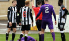 Kane Hester is sent off in  Elgin City's Betfred Cup clash with Stirling Albion.