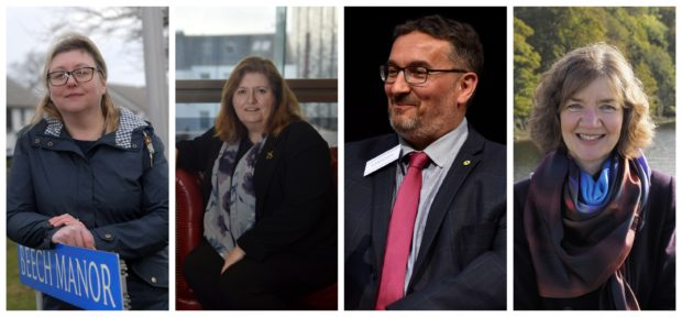 Aberdeen councillors Gillian Al-Samarai, Jackie Dunbar, Christian Allard and Audrey Nicoll are vying for selection as SNP candidates for Holyrood seats in 2021.