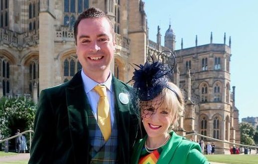 Samuel Hey and his late wife Susan Hey pictured back when they were invited to watch the Royal Wedding.