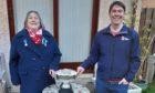 Denise Patterson, RLSS Scottish Northern Branch Chair presenting the Stanley Peck trophy to Graham Dutton.