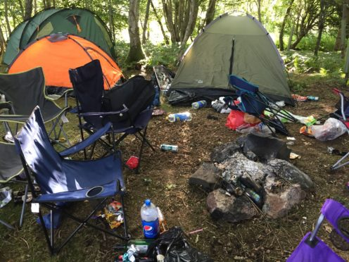 SLE members have reported problems with 'dirty campers' on their land.