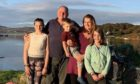 Ian McWhinney and his wife Jess, 43, live on Dry Island with their three children Iona, 14; Isla, 11, and Finlay,5.