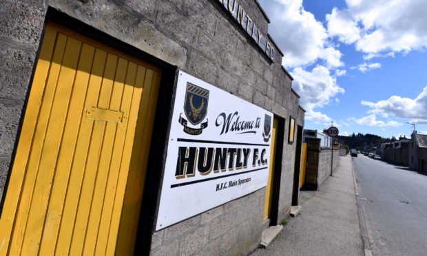 Christie Park, home of Huntly FC.