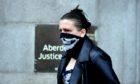 Jane Edwards leaving Aberdeen Sheriff Court.