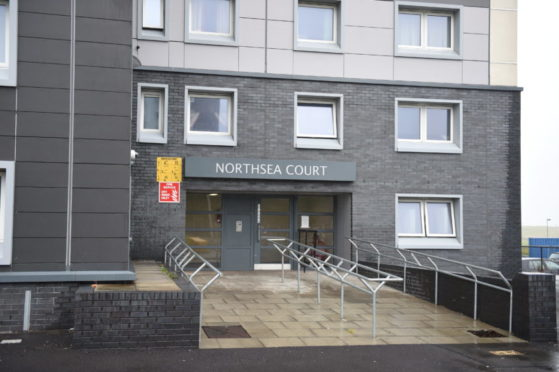Northsea Court in Seaton where a sofa was set alight. Picture by Paul Glendell.
