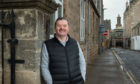 Elgin Baptist Church pastor Graham Swanson outside the old Moray Council building