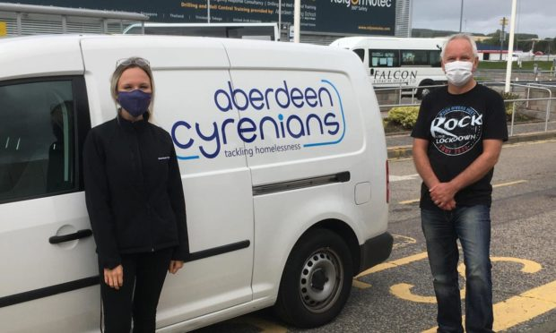 Emma Lindsay, environmental coordinator at Aberdeen International Airport and Ron Strachan from AC2U
