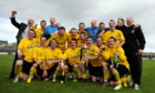 Nairn County's victorious 2011 Highland League Cup squad, with Gregg Main (bottom right)
