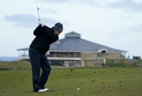 Richie Ramsay on the 9th during the preview day of The Scottish Championship at Fairmont St Andrews.