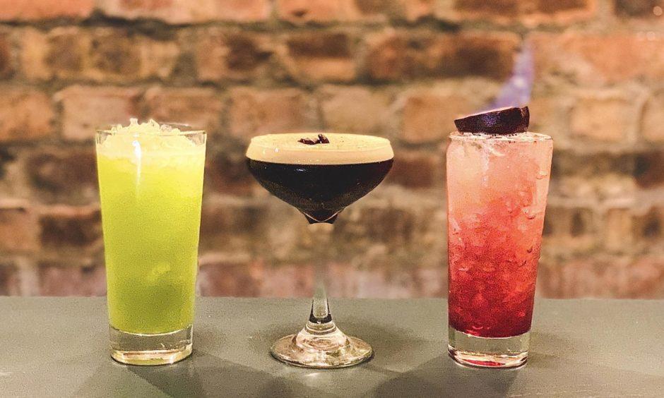 The Zombie, Pumpkin Spiced Espresso Martini and Sludge Juice.