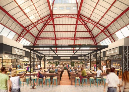 An artist impression of how the market revamp will look.