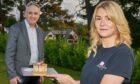 Moray MSP Richard Lochhead with Jess MacRae.