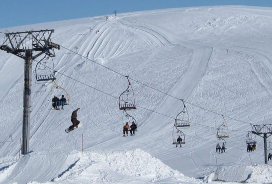 Skiers at the Lecht.