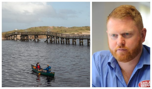 Henry Beaver's, pictured right, firm Beaver Bridges has been appointed to build the replacement East Beach crossing in Lossiemouth.