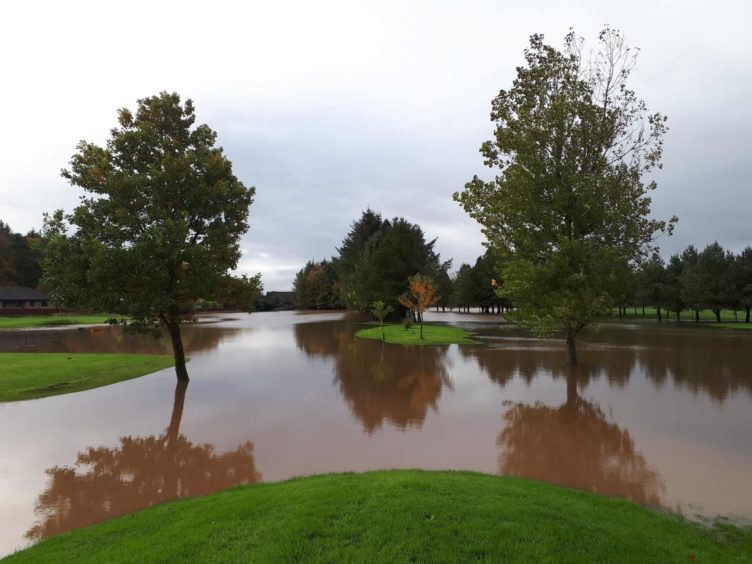 Flooding at the golf course