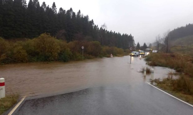 Old Military Road is closed due to flooding