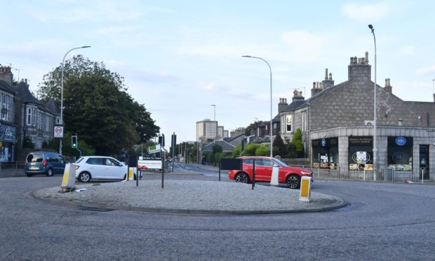 St Machar roundabout, King Street. Picture by Chris Sumner.