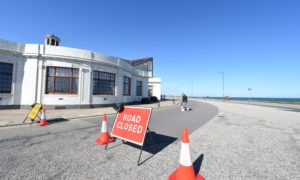 Bike lanes along the Beach Esplanade, Aberdeen will soon be removed. Picture by Jim Irvine.