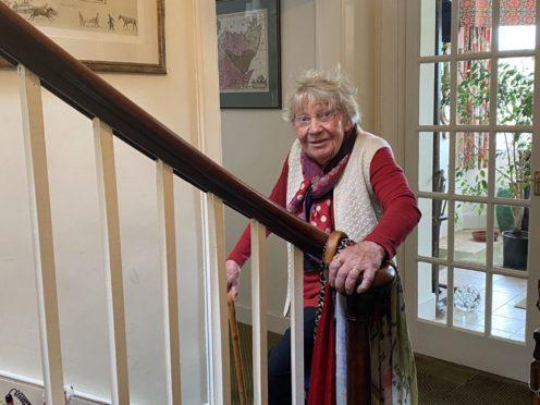 Margaret Payne at her home in Ardvar, Sutherland.