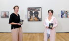 Pictured are from left, Madeline Ward (Curator at Aberdeen Art Gallery) and Aberdeen City Councillor Marie Boulton at the launch of the BP Portrait Award which will be on display in Aberdeen Art Gallery.  Picture by DARRELL BENNS   Pictured on 08/10/2020 CR0024348