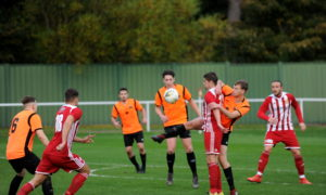 Formartine against Rothes on Saturday was the first Highland level match to be live streamed.  Picture by Darrell Benns