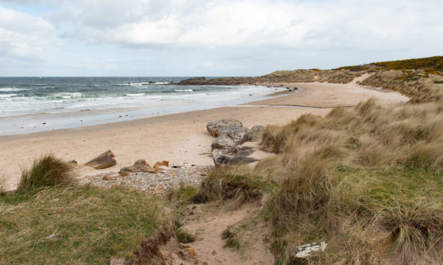 Hopeman beach.