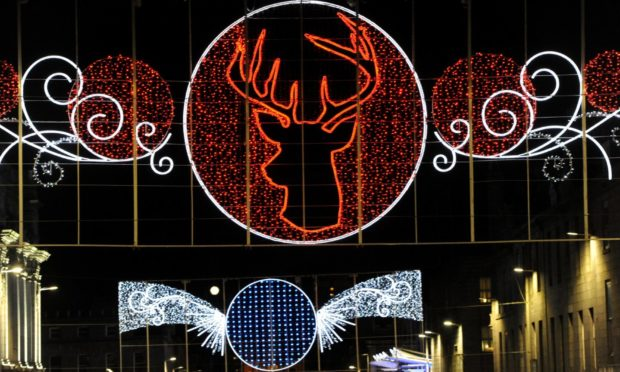 Plans have been unveiled for new Christmas lights to lead residents and visitors around Aberdeen city centre. Picture of the 2018 Christmas light switch-on parade in by Kenny Elrick.