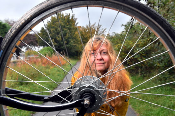 Aberdeen Cycle Forum's Rachel Martin is keen to help cyclists protect their bikes from theft. Picture: Kami Thomson.