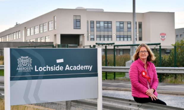 Scottish Labour's Shona Simpson, a candidate in next month's council by-election, at Lochside Academy. It stood to be Aberdeen's worst affected by the moderated SQA results this year. Picture by Kami Thomson.