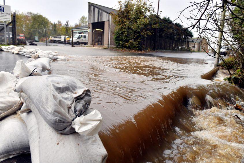 Flooding near Hospital Road.
